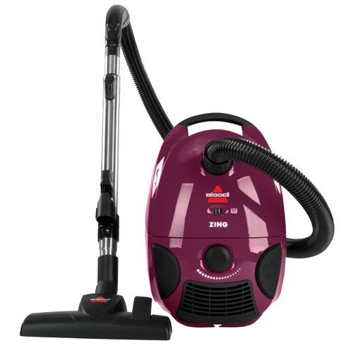 Bissell Zing Bagged Canister Vacuum, Maroon, 4122 - Corded bed bug cleaning