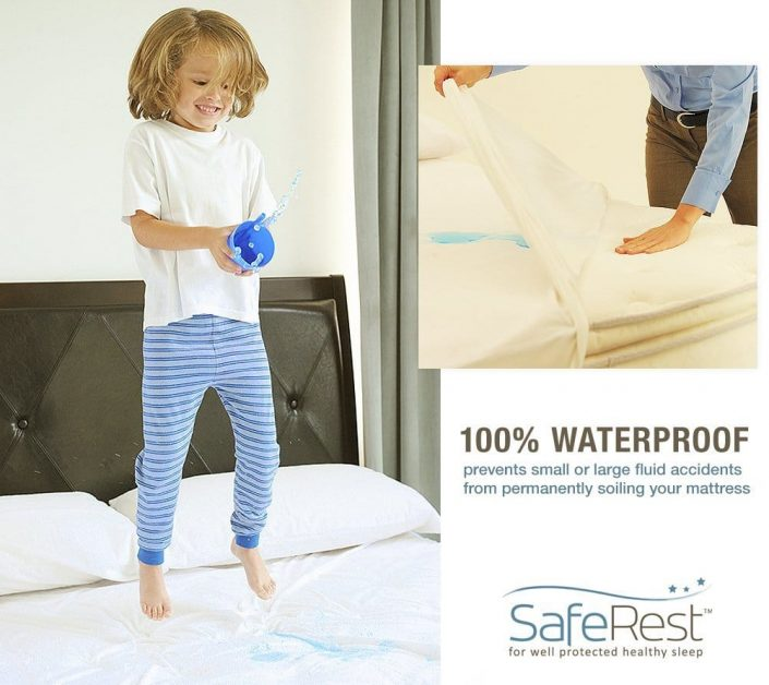 SafeRest Premium Zippered Mattress Encasement - Lab Tested Bed Bug Proof, Dust Mite and Waterproof - Breathable, Noiseless and Vinyl Free bed bug prevention